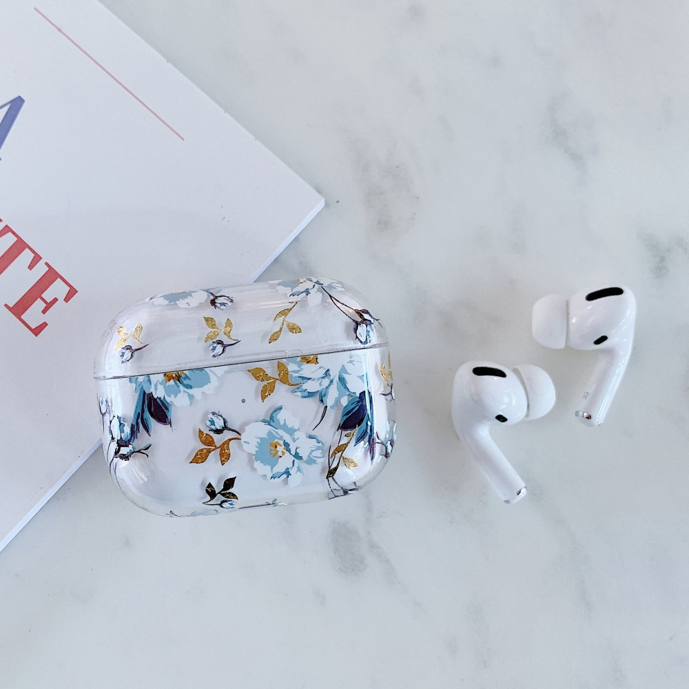 Trolsk Printed Case (AirPods Pro) - Blue Flowers
