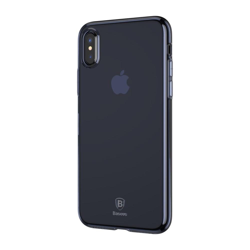 Baseus Clear TPU Case (iPhone X/Xs) - Blå