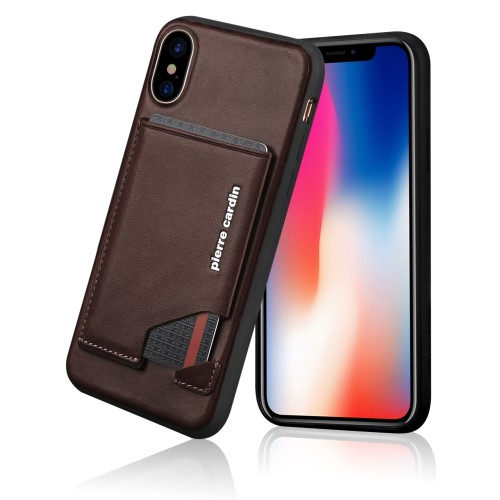 Pierre Cardin Leather Stand Case (iPhone X/Xs)