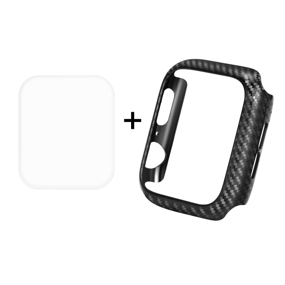 Hat Prince Carbon Fibre Case + Screen Protector (Apple Watch 40 mm)