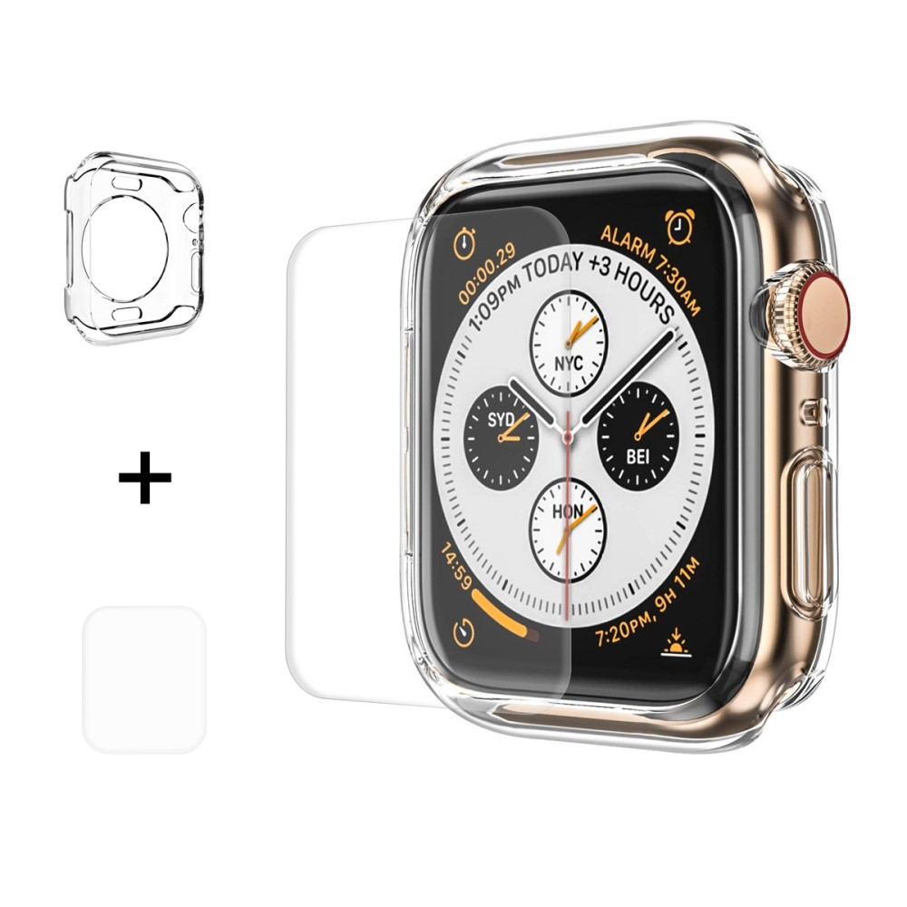 Hat Prince Clear Case + Screen Protector (Apple Watch 44 mm)