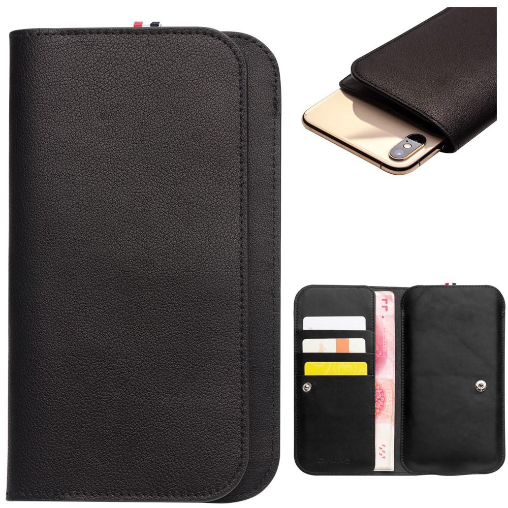 Qialino Wallet Flip (iPhone Max/Plus) - Brun