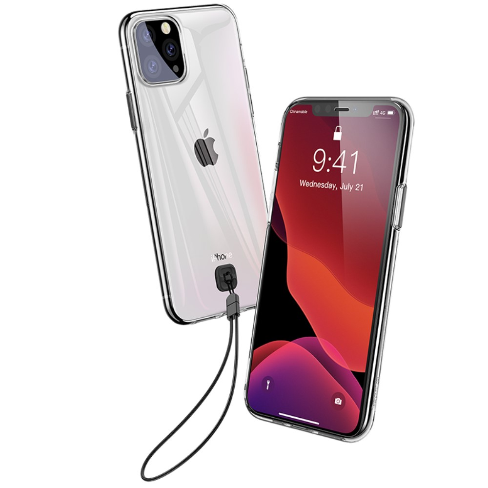 Baseus Key Case (iPhone 11 Pro Max) - Transparent svart