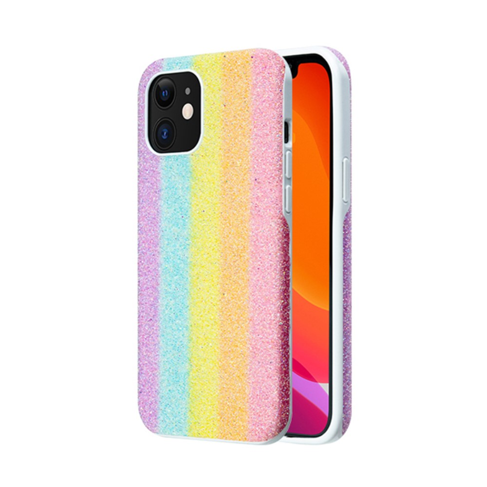 Kingxbar Glitter Case - Rainbow (iPhone 12/12 Pro)