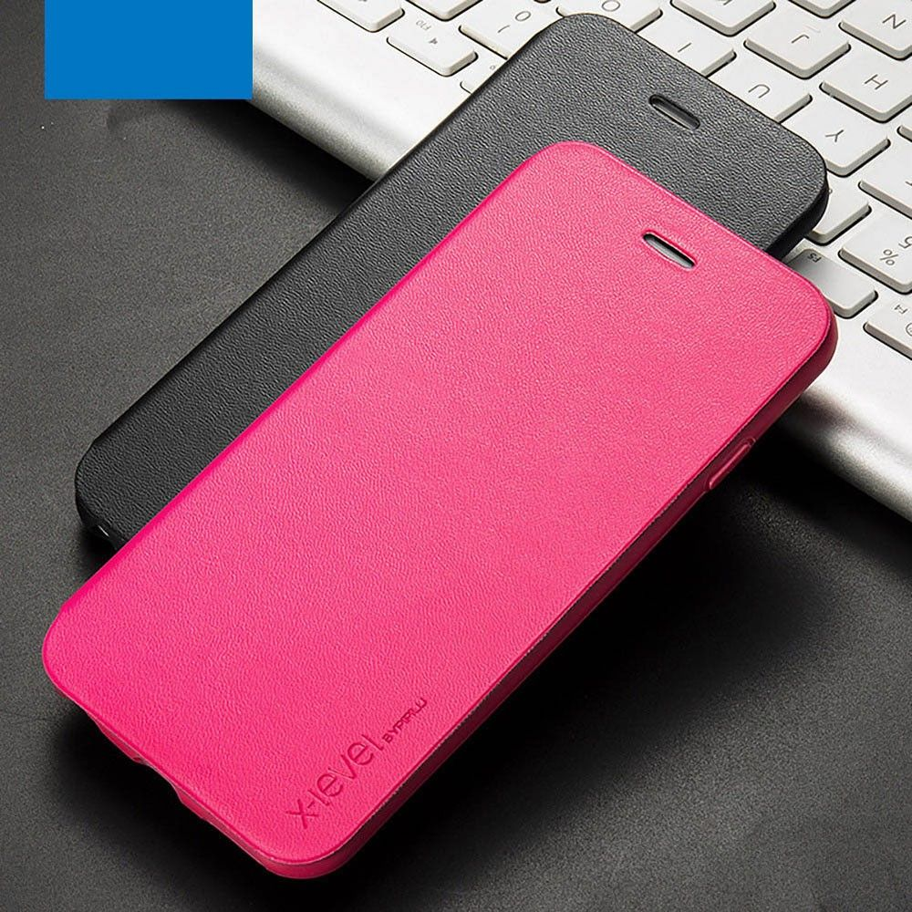 X-level FIB Color Slim Flip (iPhone 6(S) Plus) - Rosa
