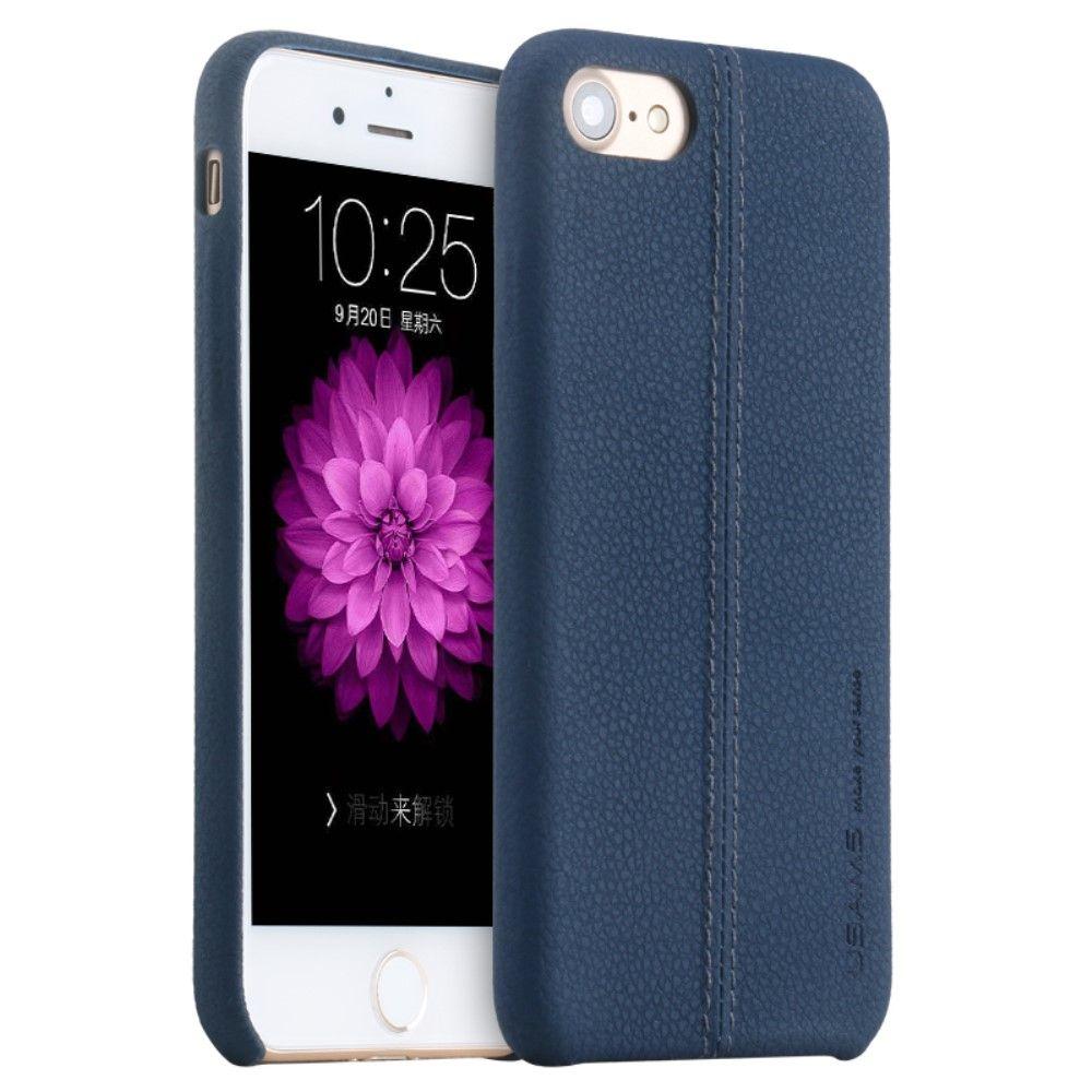 Usams Stitched Back (iPhone 8/7) - Blå