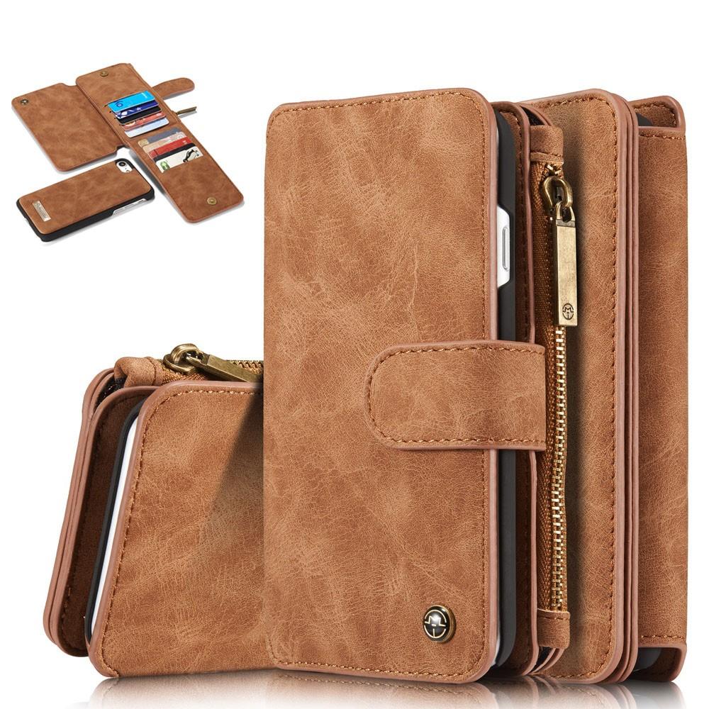 CaseMe Leather Wallet 14 (iPhone SE2/8/7) - Brun