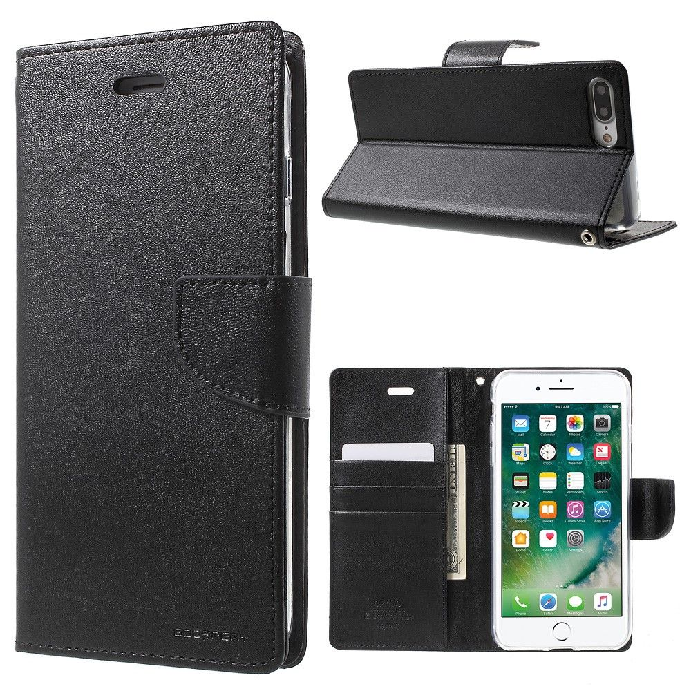 Mercury Bravo Diary Wallet (iPhone 8/7 Plus) - Brun