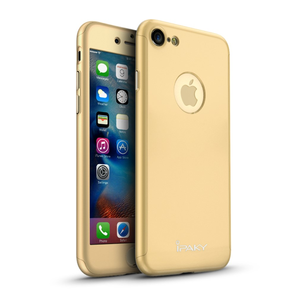 iPaky Hard Case + Screen protector (iPhone 7) – Roséguld