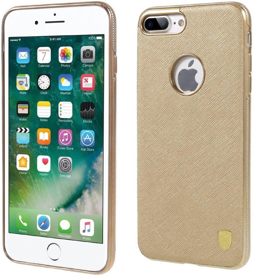 ShenGo Leather Skin TPU Cover (iPhone 7 Plus) – Guld
