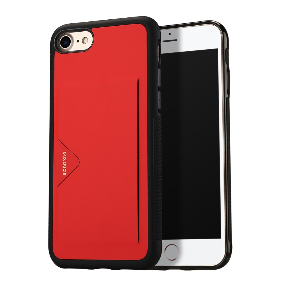 Dux Ducis Pocard Case (iPhone SE2/8/7) - Röd