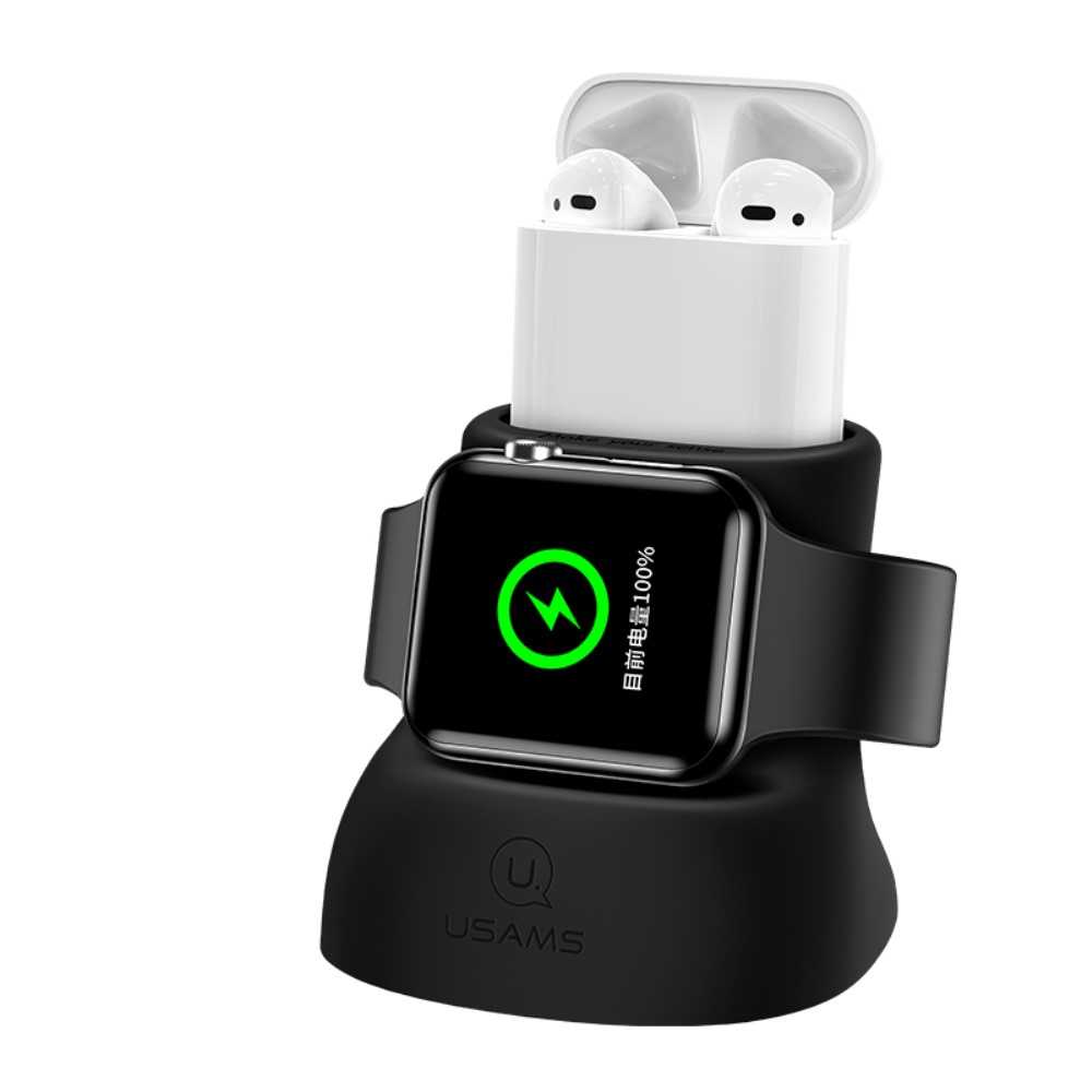 Usams 2-in-1 Charging Stand for Apple Watch & AirPods - Grå