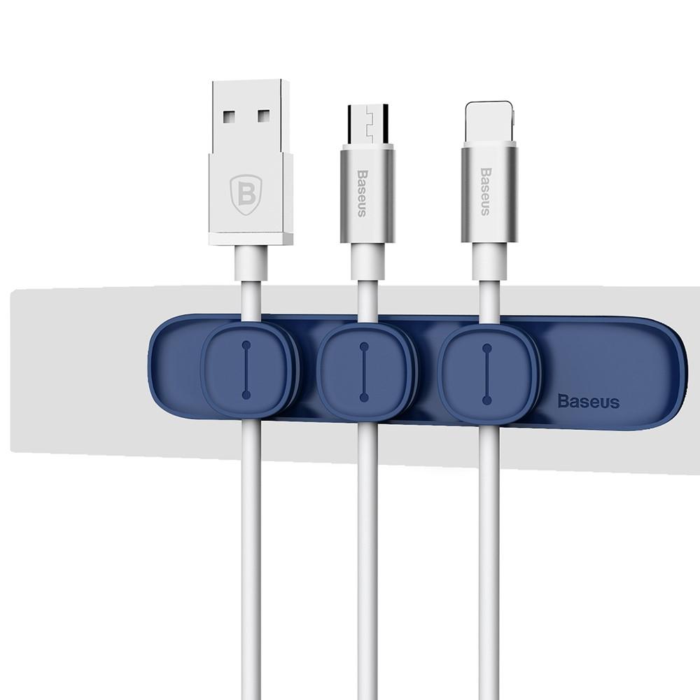 Baseus Peas Cable Clip - Blå