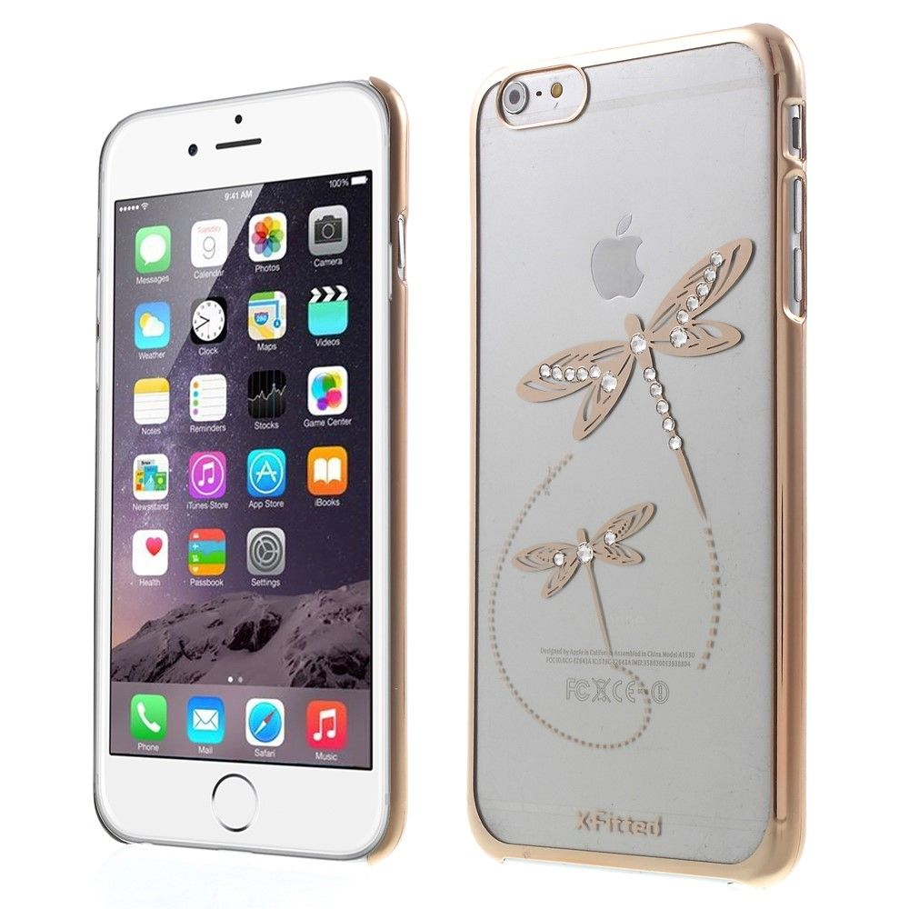 X-Fitted Swarovski Dragonfly (iPhone 6/6S) – Guld