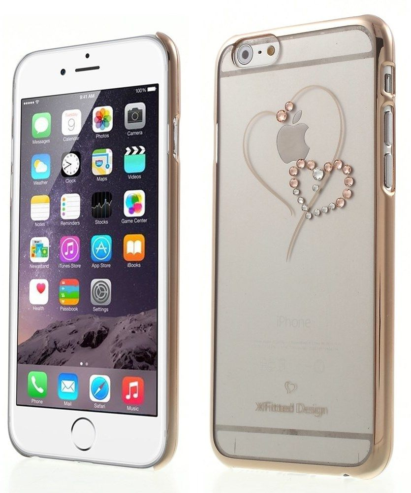 X-Fitted Swarovski Hearts (iPhone 6/6S) – Rosa