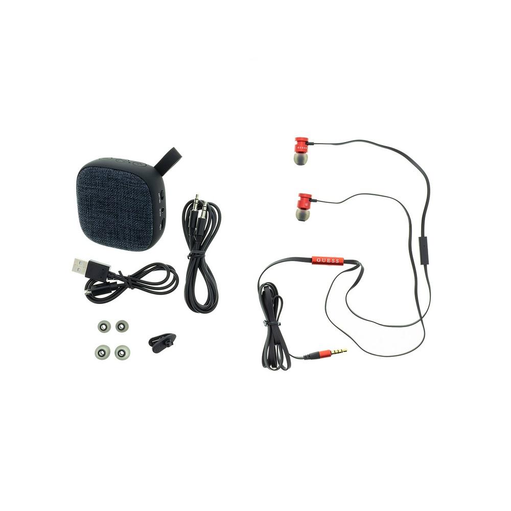 Guess Bundle - Headset + Bluetooth-speaker - Röd/svart
