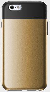 Lunatik Flak Case (iPhone 6/6S) - Svart/guld