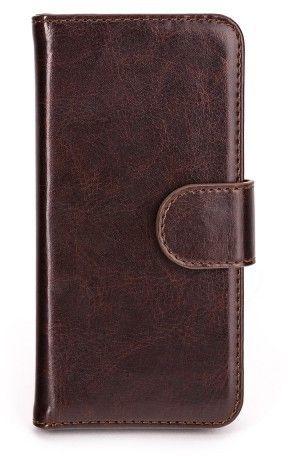 Xqisit Eman Wallet Case (iPhone 5/5S/SE) - Brun