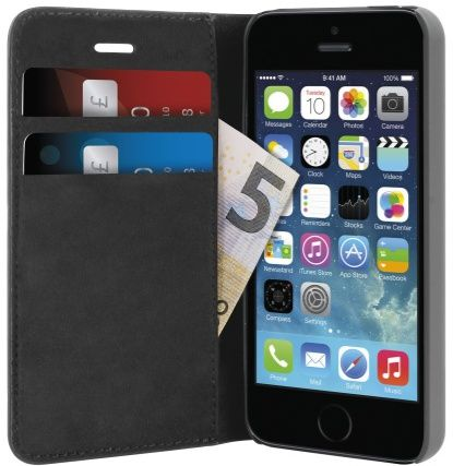 Puro Wallet (iPhone 5/5S/SE) – Svart