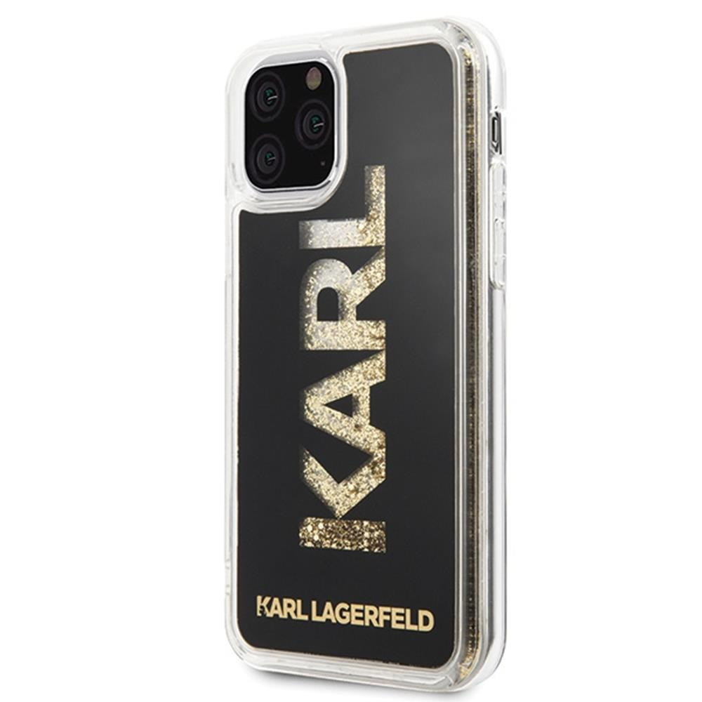 Karl Lagerfeld Hard Logo Case with Glitter (iPhone 11 Pro)