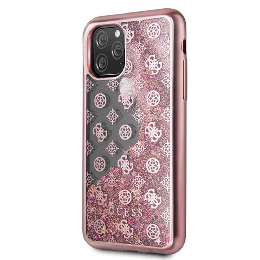 Guess Liquid Glitter Case - 4G Peony (iPhone 11 Pro) - Guld