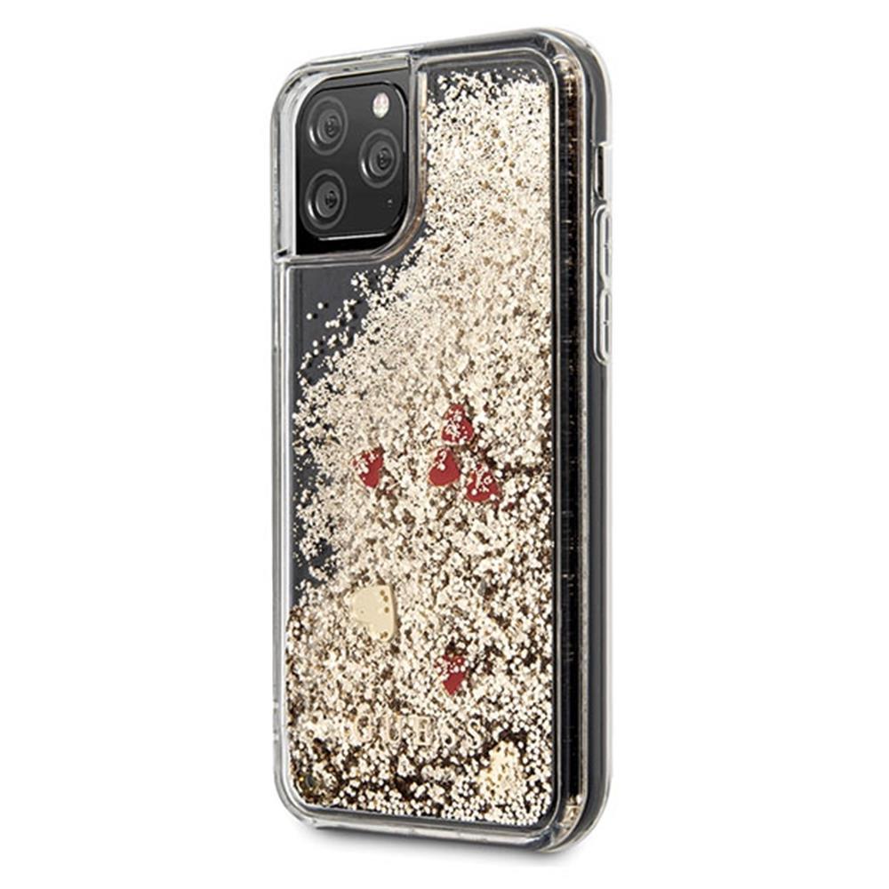 Guess Liquid Glitter Case - Hearts (iPhone 11 Pro)