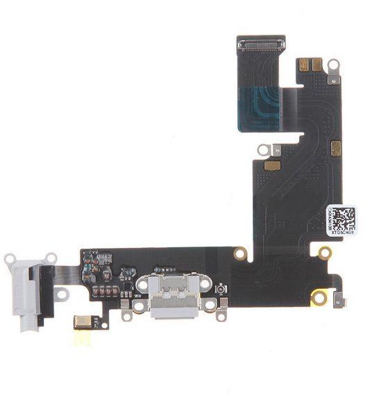 Lightningport med hörlursingång och mic (iPhone 6 Plus) – Vit