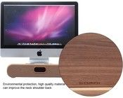 Samdi Oak Wood Holder with Drawer for iMac