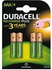 Duracell Recharge Plus AAA/L03 4-pack