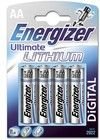 Energizer Ultimate Lithium AA/LR6 4-pack