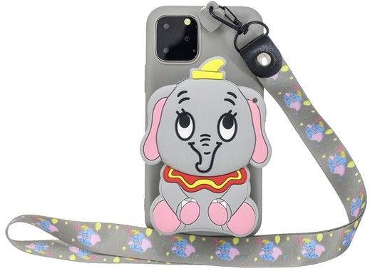 3D Bag with Neckband - Elephant (iPhone 11 Pro Max)