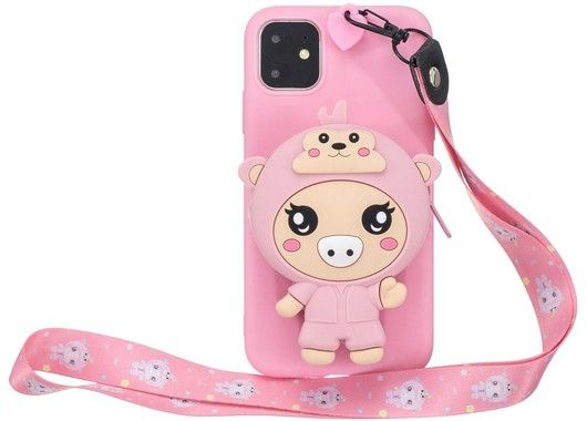 3D Bag with Neckband - Piggie (iPhone 11 Pro Max)