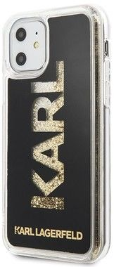 Karl Lagerfeld Hard Logo Case with Glitter (iPhone 11)