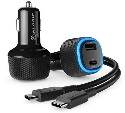 Alogic Rapid 2 Port USB-A + USB-C Car Charger