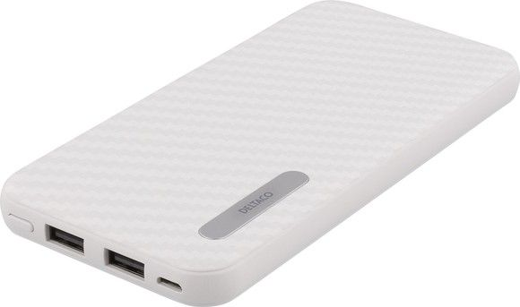 Deltaco Power Bank 10000mAh 2xUSB-A 2,1A