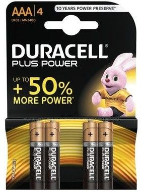Duracell Plus Power AAA/L03 4-pack
