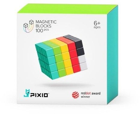 Pixio 100 Magnetic Blocks in 6 Colours