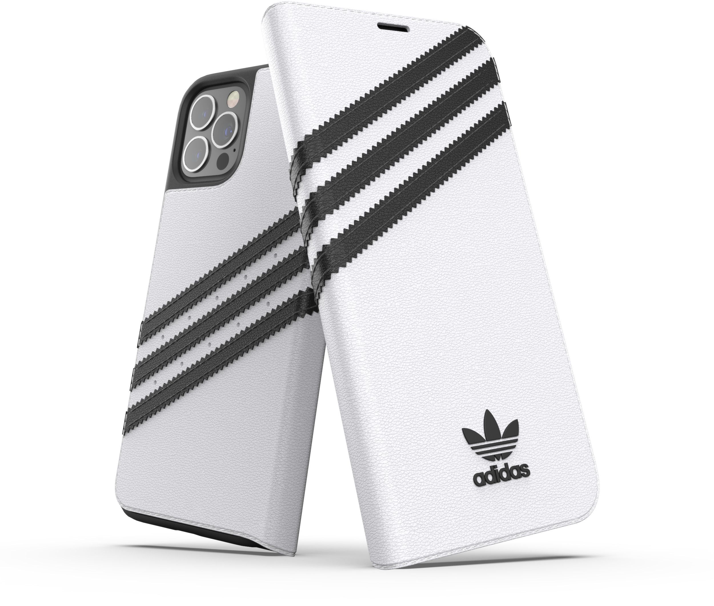 Adidas OR Original Booklet Case (iPhone 12/12 Pro) - Svart/vit