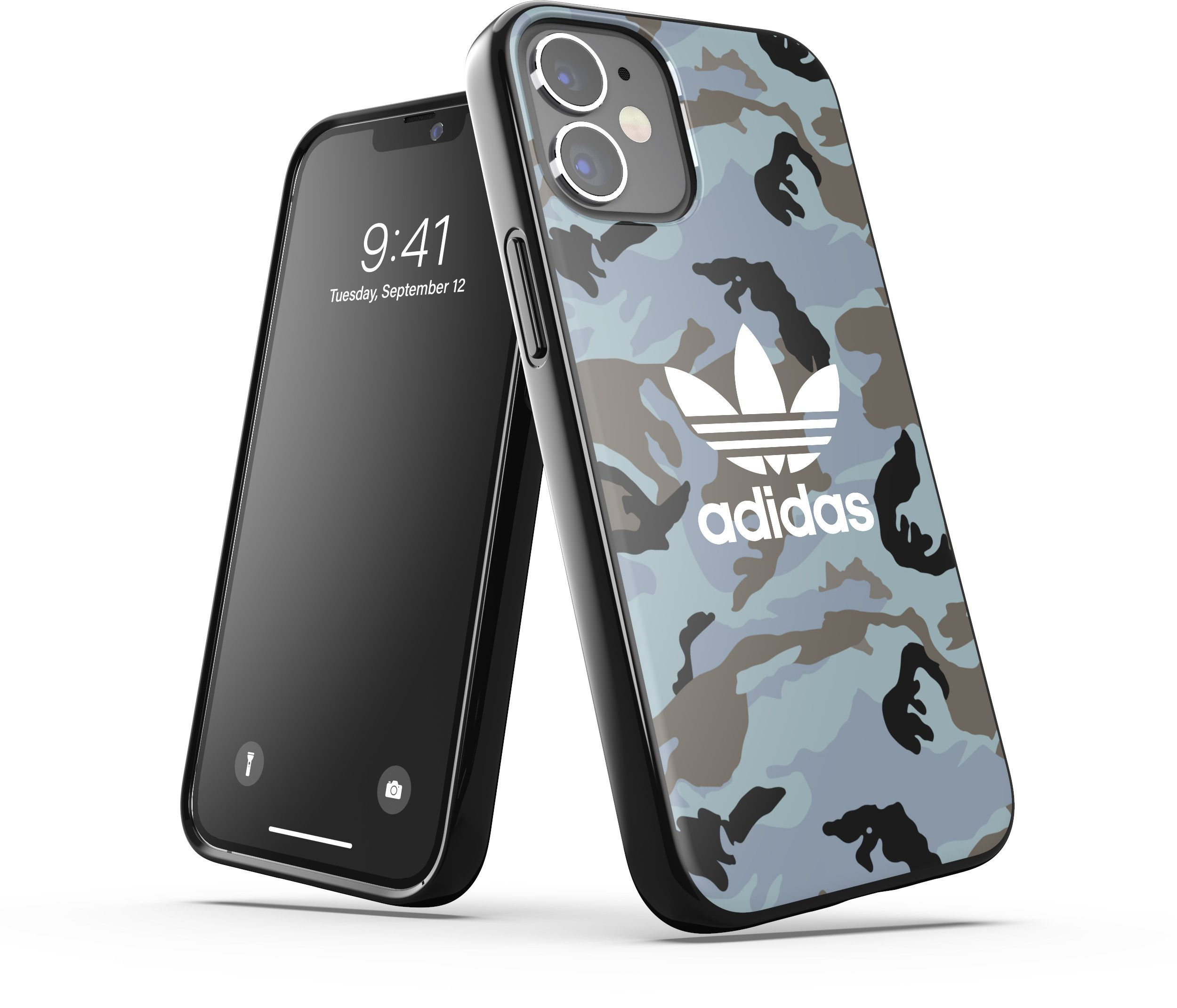 Adidas OR Snap Case Camo (iPhone 12 mini) - Blå