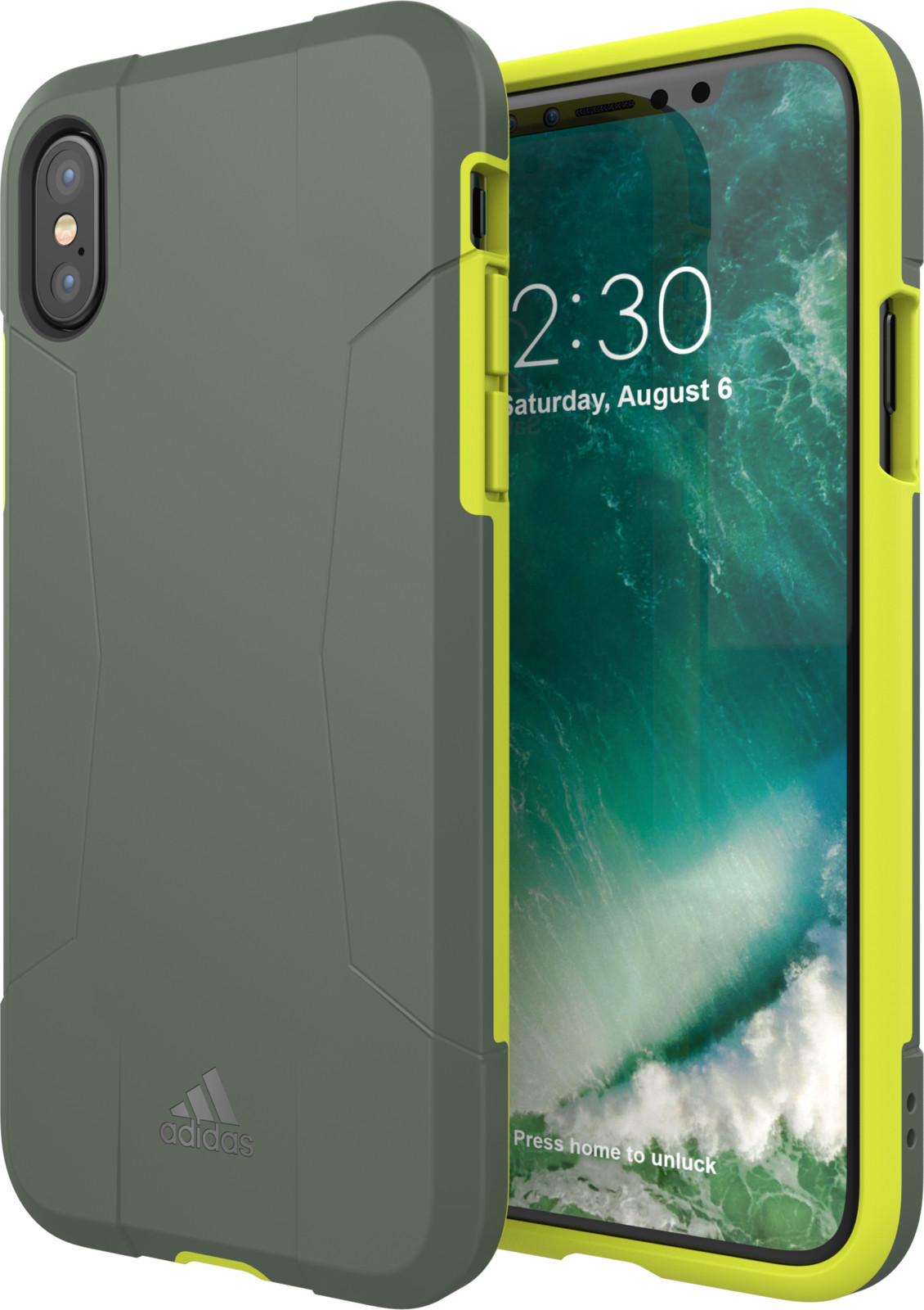 Adidas Solo Case (iPhone X/Xs) - Svart/grå