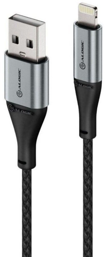 Alogic Super Ultra USB-A to Lightning Cable - Svart