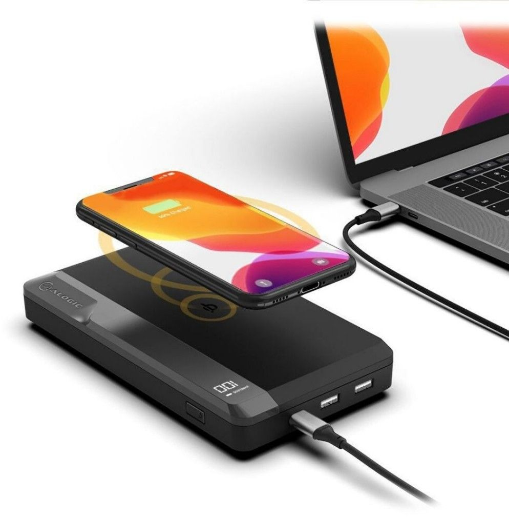 Alogic USB-C 27,000mAh Wireless Power Bank Ultimate