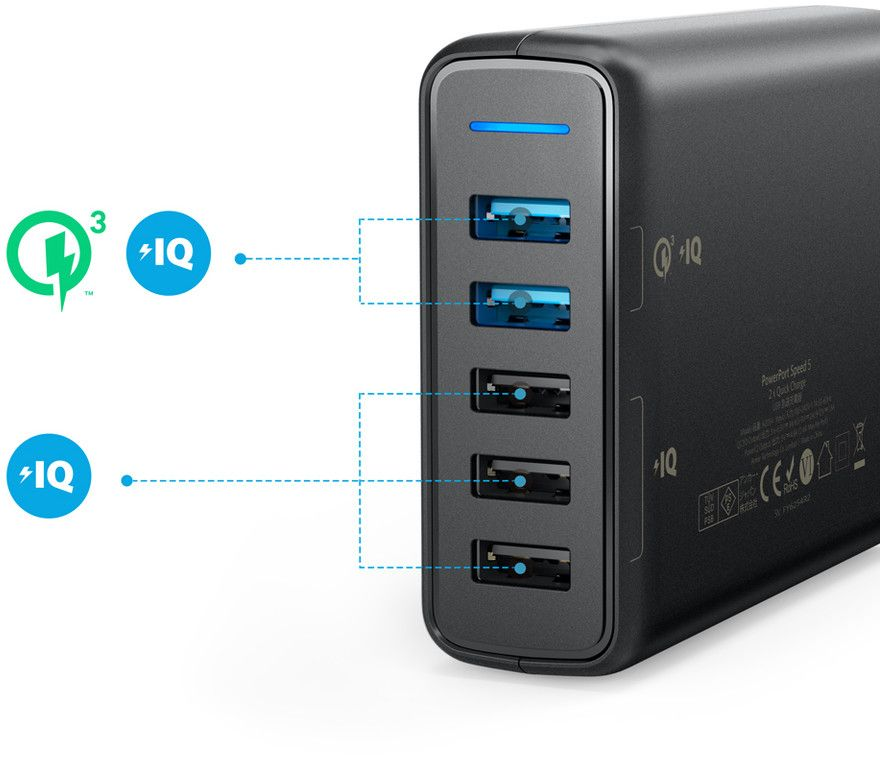 Anker PowerPort Speed 5 Ports