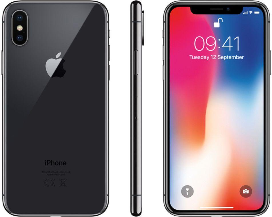 Apple iPhone X - 256GB Rymdgrå