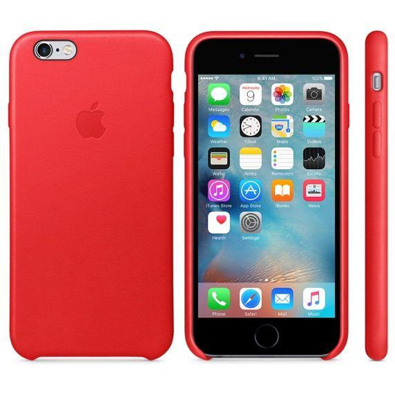 Apple Läderskal (iPhone 6/6S) - Svart