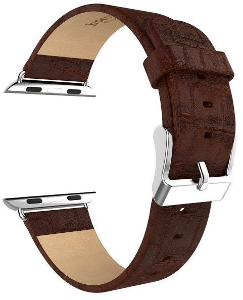 Hoco Bamboo Leather Band (Apple Watch 38 mm) – Svart