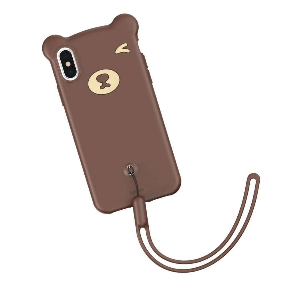 Baseus Bear Silicone Case (iPhone Xs Max) - Rosa