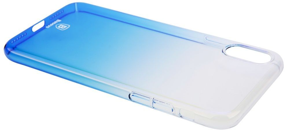 Baseus Glaze Cover (iPhone X/Xs) - Blå