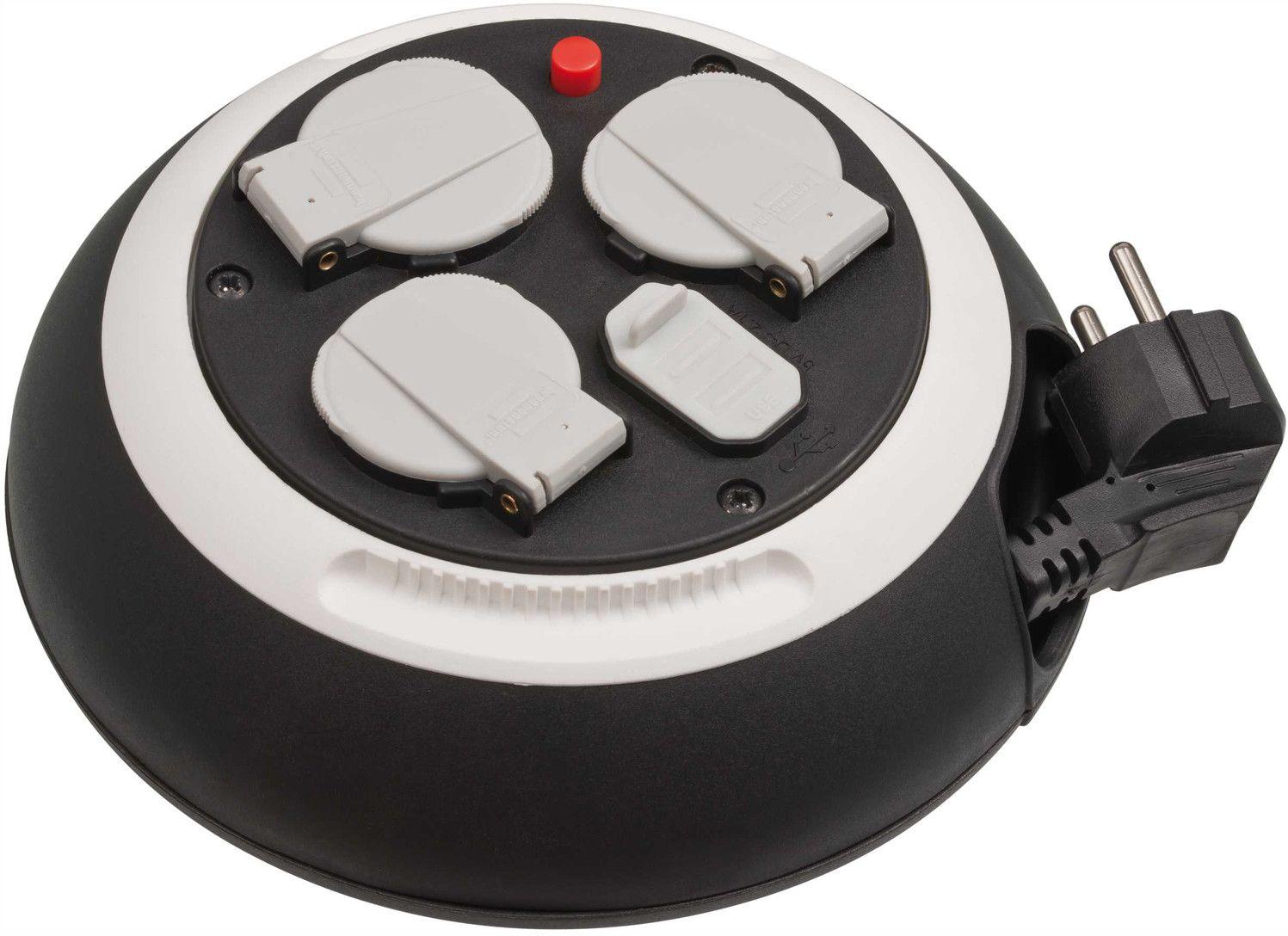 Brennenstuhl Inomhuskabelvinda med 2 st USB-uttag - 25m