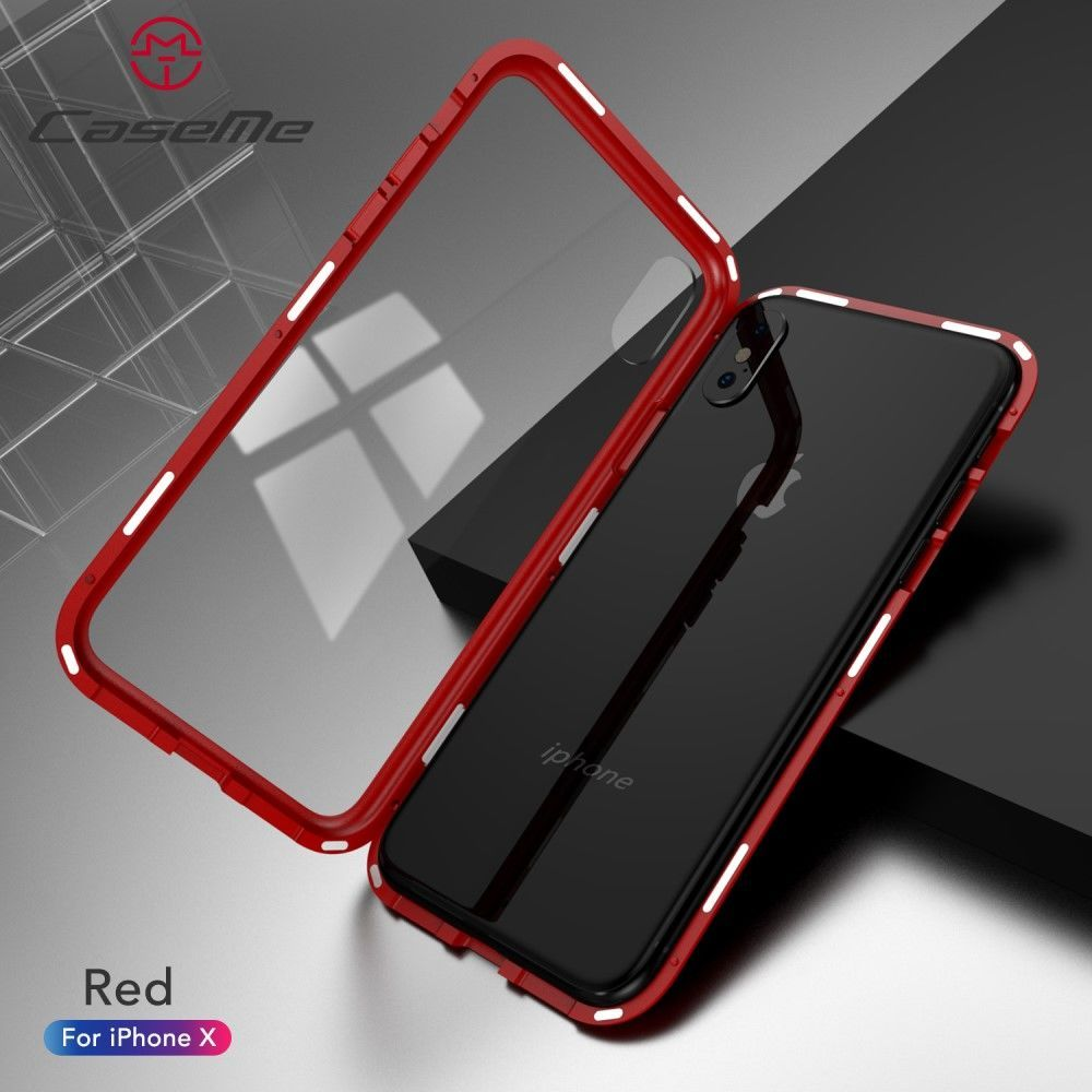 CaseMe Detachable Magnetic Cover (iPhone X/Xs) - röd